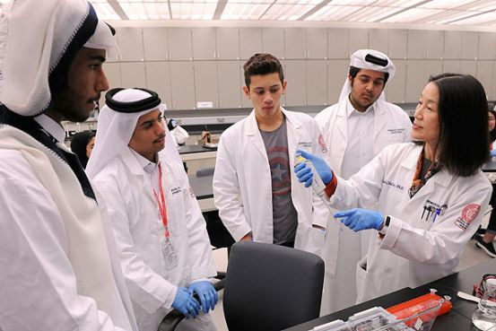 High school students learn about life at Weill Cornell Medicine-Qatar