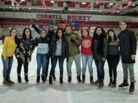 UPR students at an event in Lynah Rink